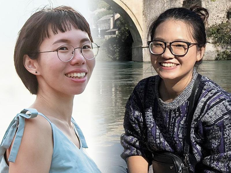 林雅婷、符瑋玲通過國際交換生計畫