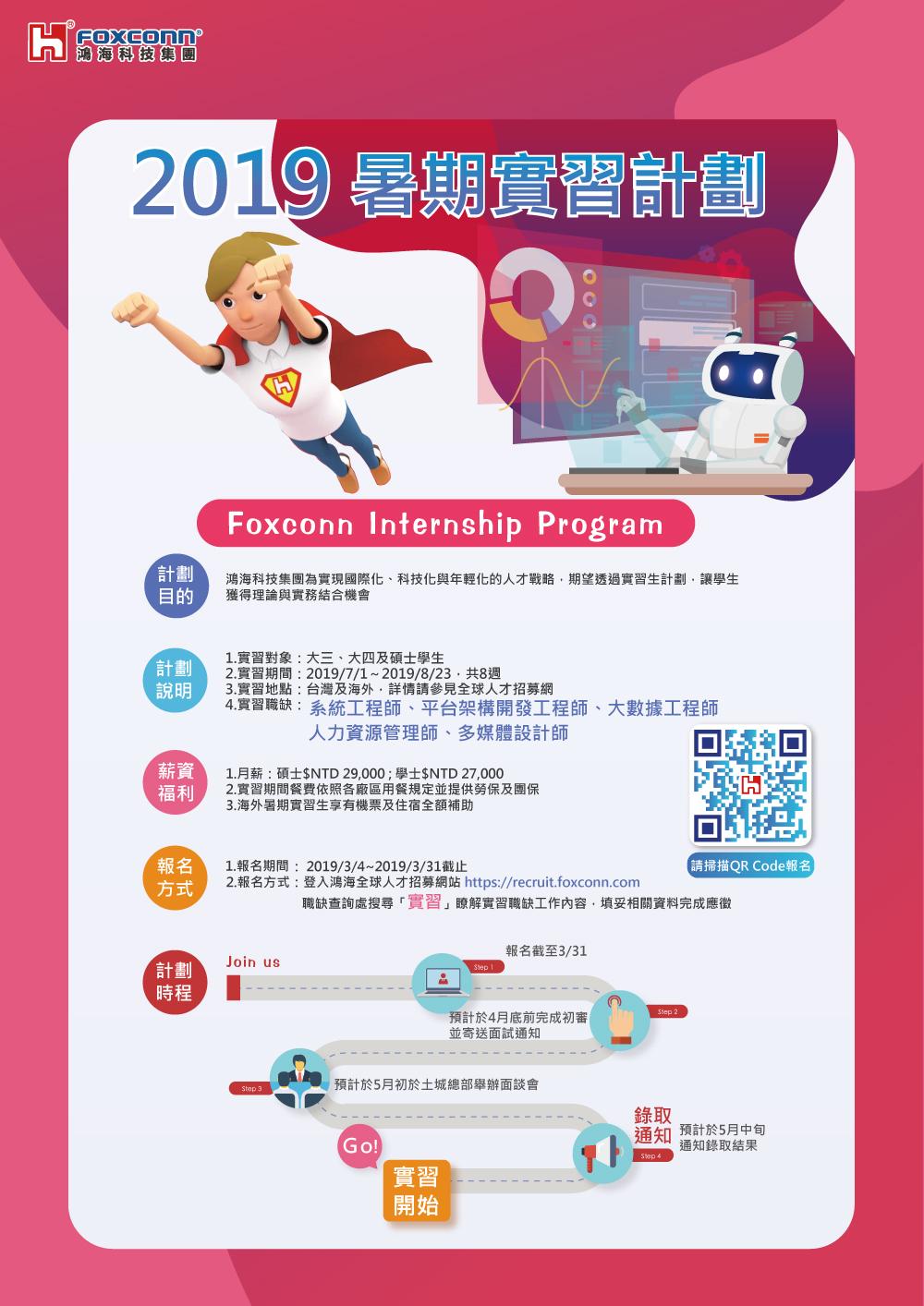 鴻海科技集團:2019年AI人才招募與暑期實習計劃