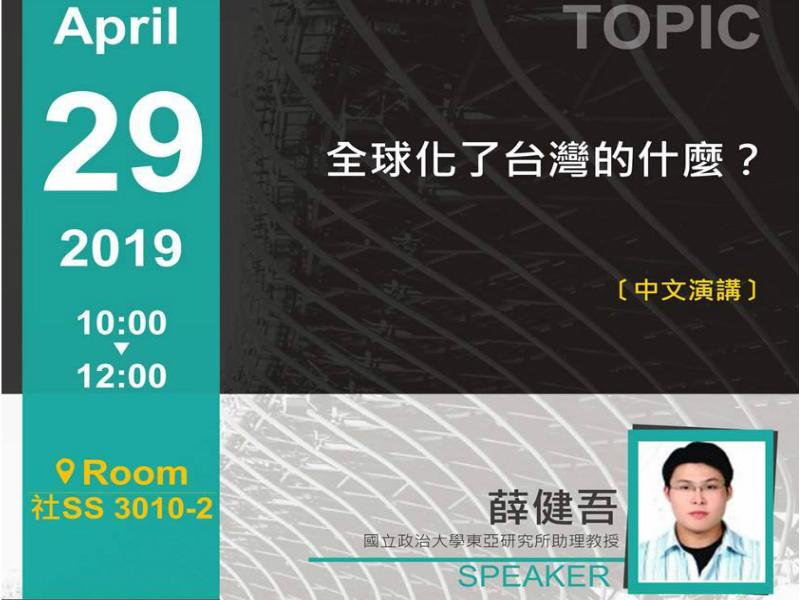 薛健吾:全球化了台灣的什麼?