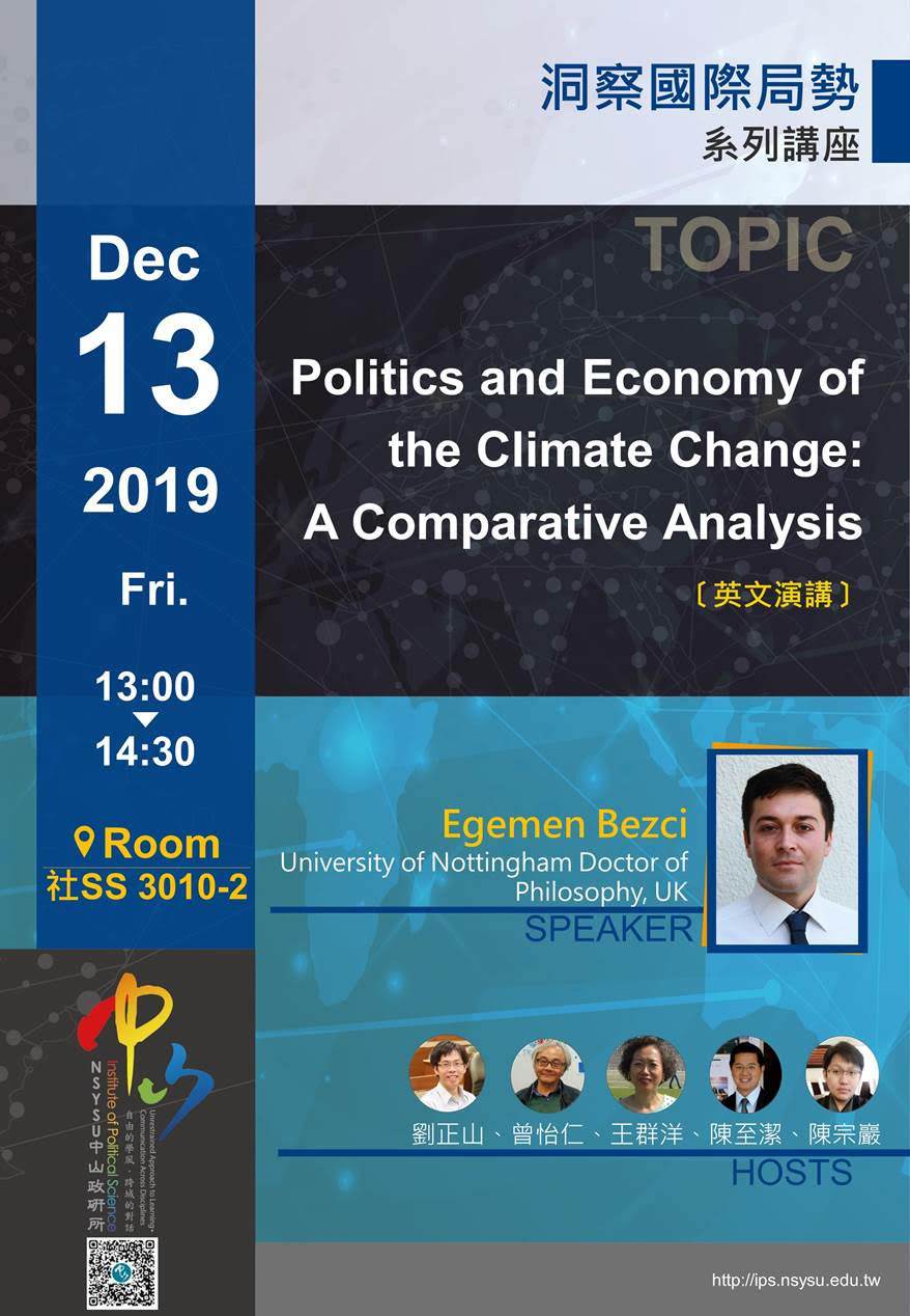 Egemen Bezci:Politics and Economy of the Climate Change: A Comparative Analysis